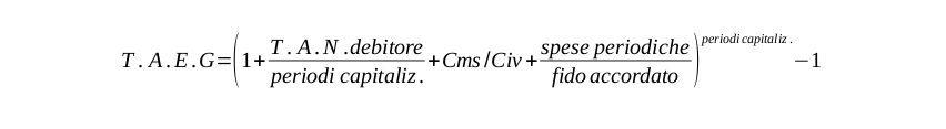 formulaTAEG matematica finanziaria