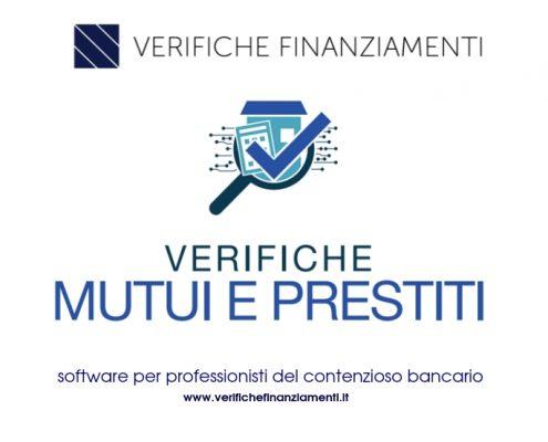 software verifiche usura e anatocismo mutui e prestiti